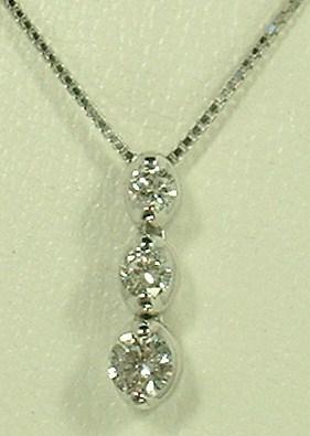 スリーストーンダイヤモンドペンダントNB-6717